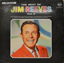 """JIM REEVES - THE BEST OF JIM REEVES VOL.2 12"""" LP (P732)"""