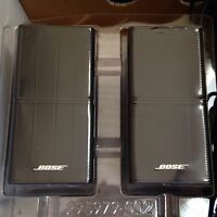 Bose Lot of 2 Jewel Mint Double Cube Speakers Premium In Black Flawless