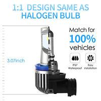 Pair H11 160W CSP LED Fog Light Bulb Car Driving Lamp DRL H8 H9 6000K Cool White