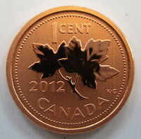 2012 CANADA 1 CENT MAGNETIC SPECIMEN PENNY COIN