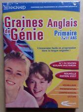 logiciel éducatif PC GRAINES DE GENIE ANGLAIS PRIMAIRE 7 - 11 ans
