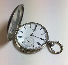 "Antique ""Fine Silver"" Cased Grindat & Co Geneve Pocket Watch Not Working"