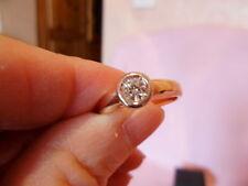 Diamant Solitär Ring 0,25ct lupenrein get.Weiß 585 Gelbgold 17/54 Gewicht 4,33 g