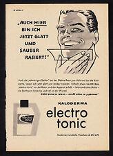 3w2279/ Alte Reklame von 1960 - KALODERMA electro tonic