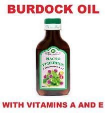 Burdock Root Oil with Vitamins A E Natural Hair Loss Treatment Nutrition MIRROLL
