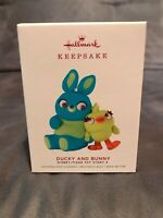 "Hallmark ""Ducky and Bunny"" Disney Pixar Toy Story 4  Ornament 2019 Keepsake"