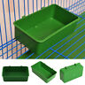Aviary Cup Bird Parrot Pet Cage Green Water Food Bowl Feeding Bath Cage Supplies