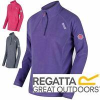 Regatta Womens Ladies Montes Half-Zip Ribbed Fleece Pullover RWA240