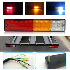 Pair 20 LED Tail Light Car Truck Trailer Stop Rear Reverse Turn Indicator Lamp