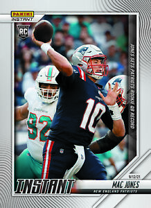 2021 Panini Instant NFL #18 Mac Jones RC Rookie Patriots PRESALE