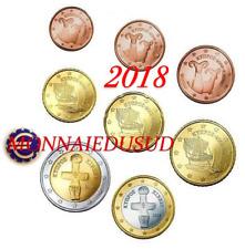Série 1 Cent à 2 Euro Chypre 2018 - Série UNC