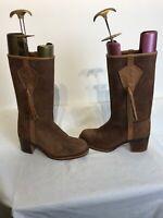 Valverde Del Camino Ladies Tan Leather Boots Uk 7 Ref Fe01
