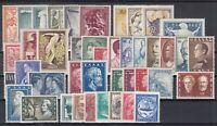 Z4698/ GREECE – 1952 / 1957 MINT MH SEMI MODERN LOT – CV 530 $