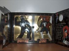 MIB Marvel Famous Cover Series Spider-Man Spider-Woman 2 pack Toy Biz 8in 1998