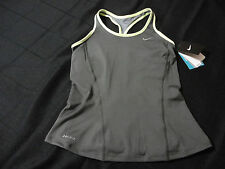 NIKE WOMEN'S NEW GRAY SPORT TOP DR-FIT STAY COOL SIZE XS