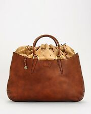 FENDI Borsa Coilisse Vitello Leather Suede Drawstring Satchel Tote Hand Bag