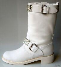 new $1295 Giuseppe ZANOTTI white leather JEWELED BOOTS 40.5 10.5 - SO AMAZING
