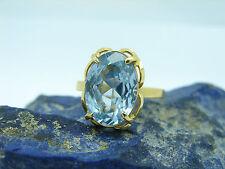 Vinatge Spinell Stein Ring 750 Gold 18kt Damenring Gr.54 Goldschmuck