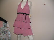 Dress Rose Pink Halter Soulmates Heart & Soul Size 5 fully lined NEW