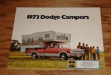 Original 1973 Dodge Campers Sales Brochure 73 Pickup Sportsman Motor Home