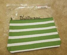 Thirty-One Zipper Pouch - Green Cabana Stripe - Brand New