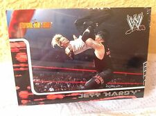 WWE JEFF HARDY ROYAL RUMBLE 2002 FLEER COLLECTOR TRADING CARD #13 & HOLDER