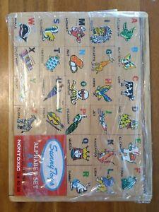Wooden Alphabet Set In Frame.  Sunny Toys Wood Alphabet Set.  #308 By Preschool