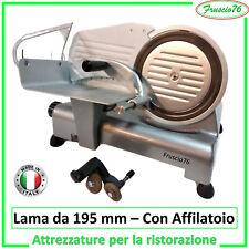 Affettatrice Elettrica LAMA da 195 GL Lusso RGV, con Affilatoio per Affilatrice