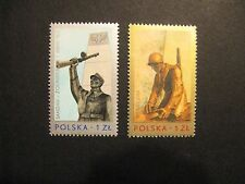 Poland Sc# 2156 & 2157 MNH, 1976 Memorials to 30th Anniversary of WWII Victories