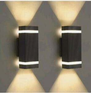 LMS LED Square Up and Down Lights Outdoor Wall Light, Modern Aluminum Waterproof