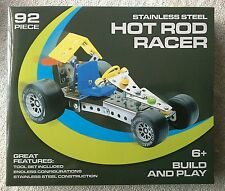 92 Piece Hot Rod Racer Build & Play Educational Toy 6+ (Meccano Style Gift Set)