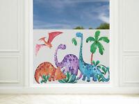 Sichtschutzfolie Kinderzimmer Junge Dinos Fensterfolie Blickdicht Milchglasfolie