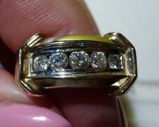 14k Diamond Ring, White with Yellow Gold, 7.3 grams, Size 5