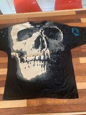 New listing Vintage 1992 Nos Liquid Blue Deadstock Skull T-shirt All Over Print 90s