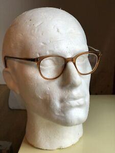 Vintage Spectacles Thick Retro Unisex Men's Ladies Eye Glasses NHS Frames Brown