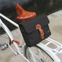 Tourbon Bike Handlebar Bag Rear Pannier Messenger Bag Hand Pack Tote Case Black