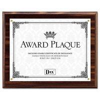 Dax Award Plaque Wood/Acrylic Frame Up to 8 1/2 x 11 Walnut N15818T