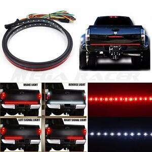 60'' Tailgate LED Light Strip Reverse Brake Turn Signal Tail Light for Chevrolet