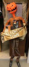 NEW 6' Pumpkin King Jack Skellington Static Halloween Deco LED Musical Prop