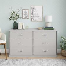 Mainstays Classic 6 Drawer Dresser, Dove Gray Finish