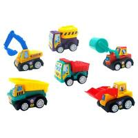 6pcs/Set Mini Cartoon Cars Models Pull Back Engineering Truck Toys Kid Gift #gib