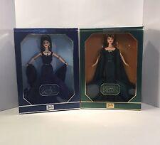 Barbie Royal Jewels Empress Of Emeralds,Queen Of Sapphires 'Swarovski ' Set Of 2