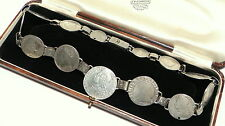 Antiguo Queen Anne I/georgiano muy rara moneda de Plata Corona De Cuello Collar 1602