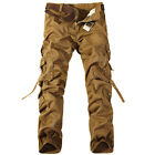 Men's Casual Military Baggy Army Cargo Camo Combat Pants Work Trousers Leisure