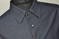 Marks Spencer Italian Denim Mens Shirt L