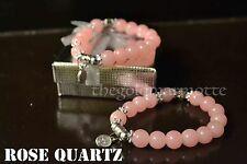 Elegant Rose Quartz Rosary Bracelet