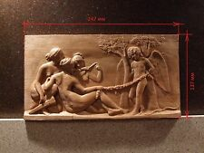 "Carved panels ""Cupid and the Nymphs"" size 250 * 135 * 20 mm"