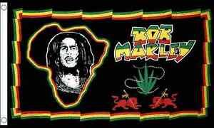 Bob Marley Africa 3'x2' 90CM X 60CM Flag Regge Rasta Festival The Wailers