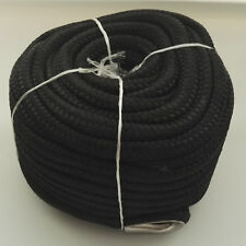 1/2″ X 100′ ANCHOR LINE BLACK DOUBLE BRAID NYLON ROPE W/ STAINLESS STEEL THIMBLE