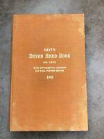 davy's devon herd book vol lxx11 - 1949